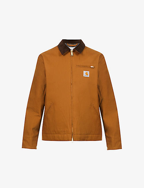 CARHARTT WIP: Detroit corduroy-collar organic-cotton jacket