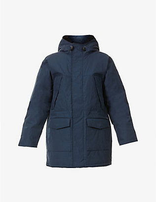 CARHARTT WIP: Trent hooded quilted woven parka coat