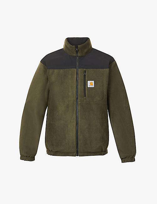 CARHARTT WIP: Denby reversible funnel-neck fleece jacket