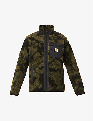 CARHARTT WIP: Prentis leopard-print funnel-neck fleece jacket