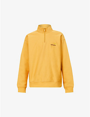 CARHARTT WIP: Logo-embroidered cotton-blend jersey sweatshirt