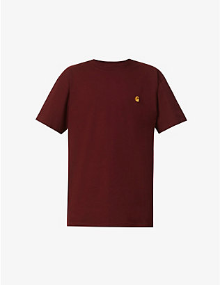 CARHARTT WIP: Logo-embroidered cotton-jersey T-shirt