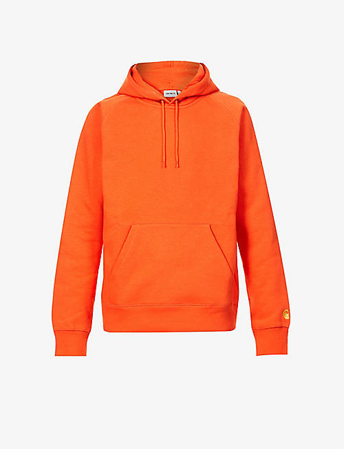 CARHARTT WIP: Chase logo-patch cotton-blend jersey hoody