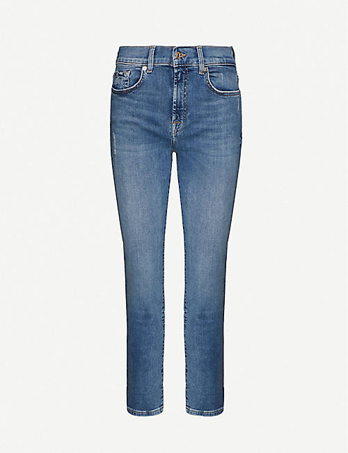 7 FOR ALL MANKIND: Skinny high-rise stretch-denim jeans