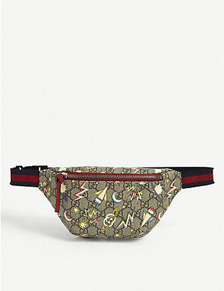GUCCI: Kids space logo-print bum bag