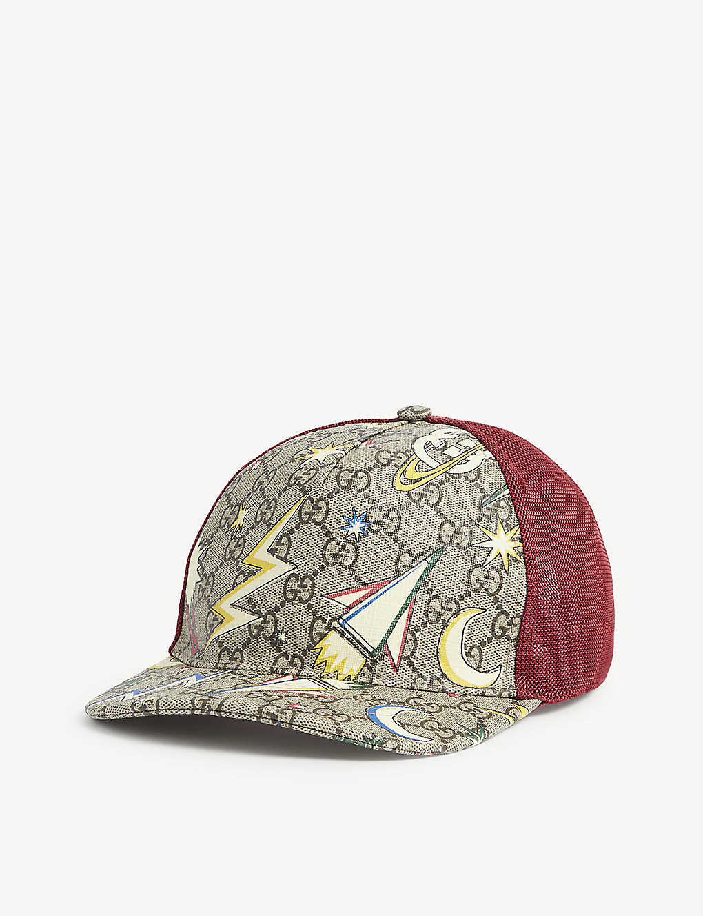 GUCCI: GG logo and space-print canvas cap