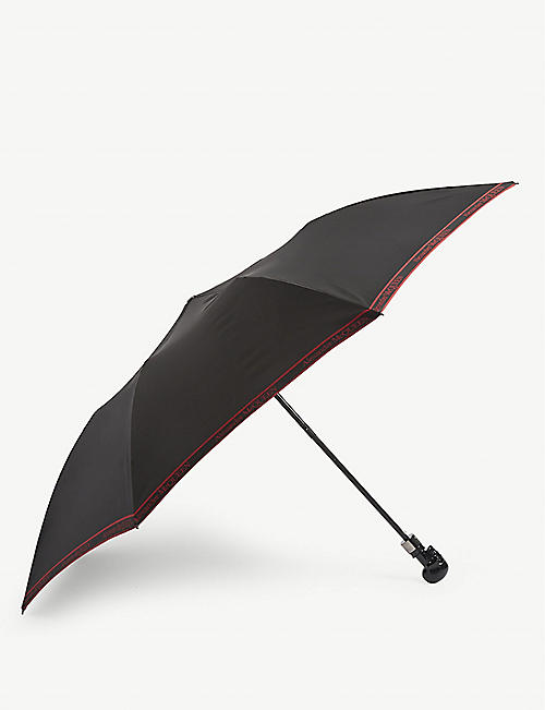 ALEXANDER MCQUEEN: Selvedge skull folding umbrella