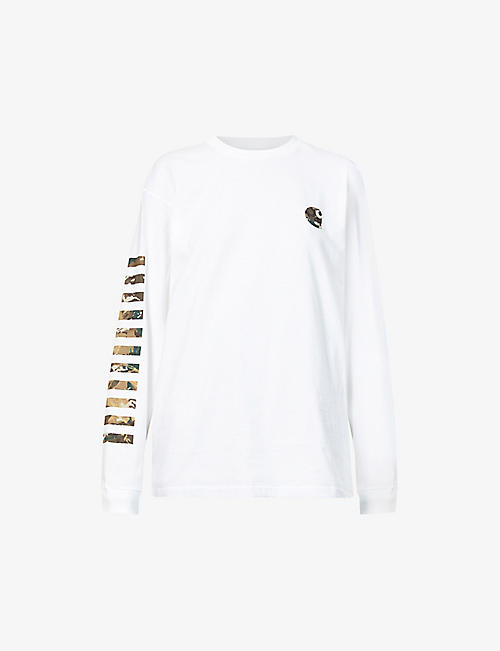 CARHARTT WIP: Graphic-print long-sleeved cotton-jersey top