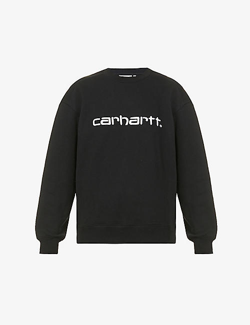 CARHARTT WIP: Logo-embroidered stretch-cotton sweatshirt
