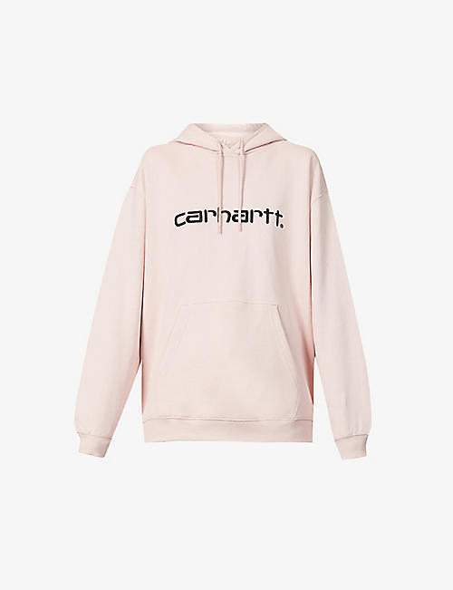 CARHARTT WIP: Logo-embroidered stretch-cotton hoody