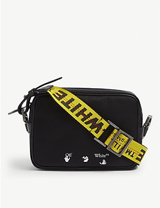 OFF-WHITE C/O VIRGIL ABLOH: Logo-print cotton cross-body bag