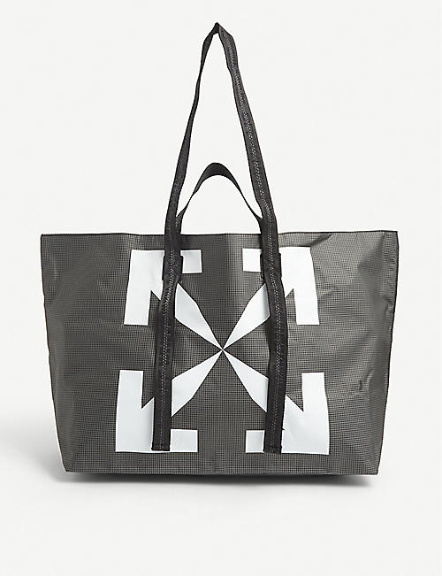 OFF-WHITE C/O VIRGIL ABLOH: Arrows PVC tote bag