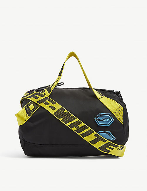 OFF-WHITE C/O VIRGIL ABLOH: Logo-print cotton duffle bag