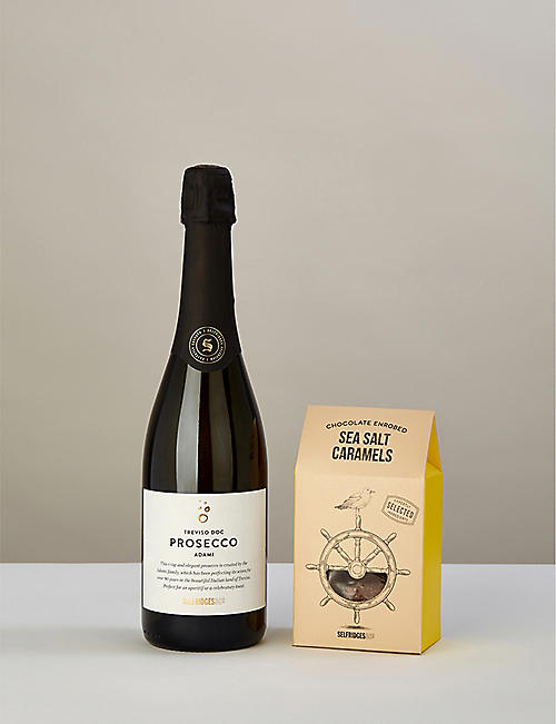 SELFRIDGES SELECTION Prosecco and Salted Caramels gift box