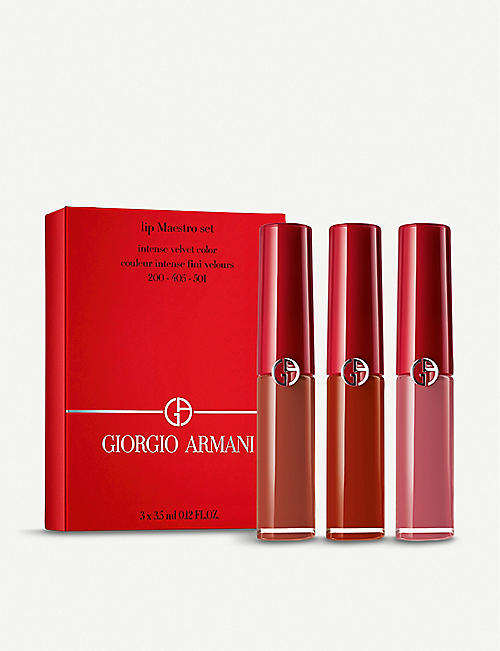 GIORGIO ARMANI Lip Maestro Set 3 x 3.5ml