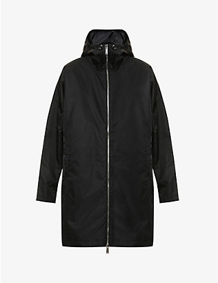 DSQUARED2: Logo-print shell hooded coat