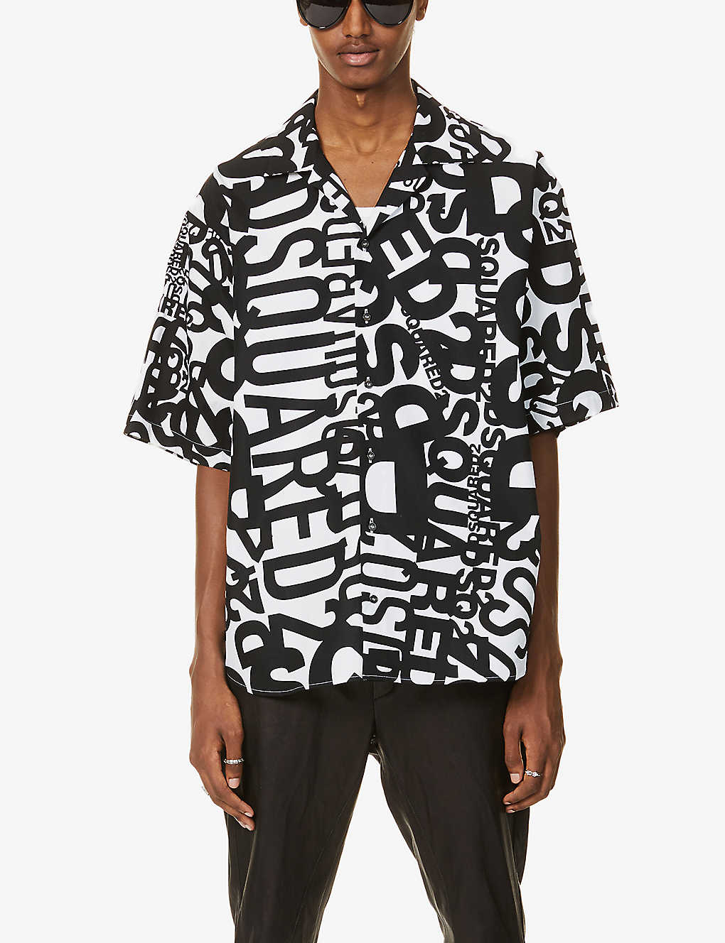 DSQUARED2: Logo-print cotton shirt
