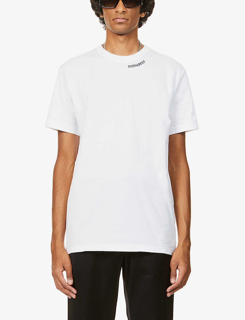 DSQUARED2: Logo-print cotton-jersey T-shirt