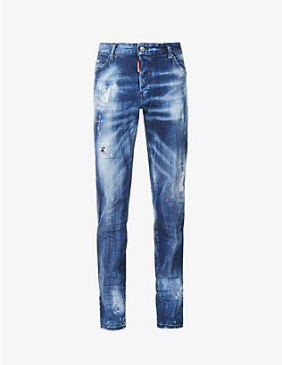 DSQUARED2: Cool Guy mid-rise stretch-denim jeans