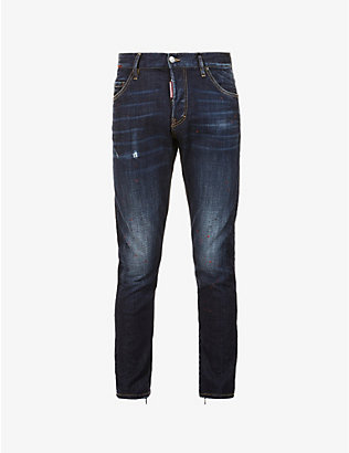 DSQUARED2: Mid-rise slim-fit denim jeans