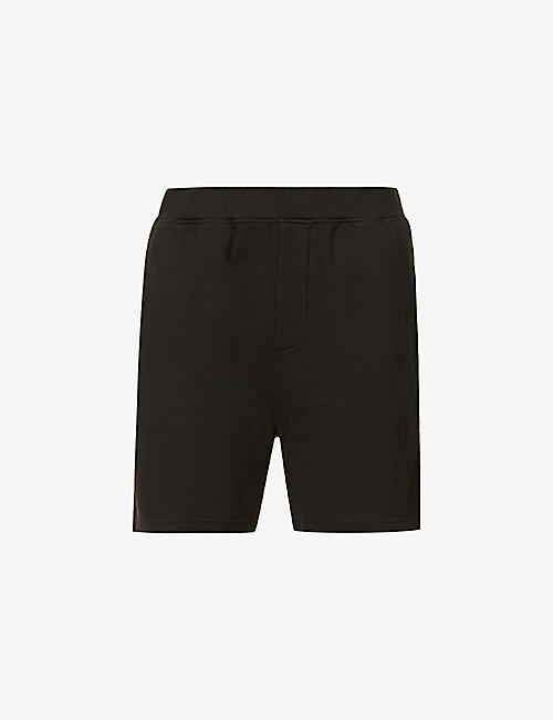 DSQUARED2: Branded wide-leg cotton-jersey shorts