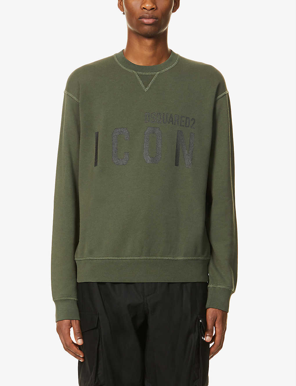 DSQUARED2: Icon graphic-print cotton-jersey sweatshirt