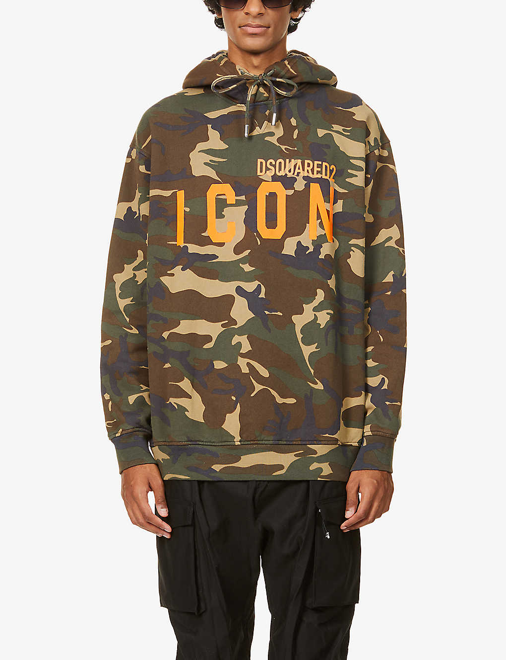 DSQUARED2: Icon camo-print branded cotton-jersey hoody