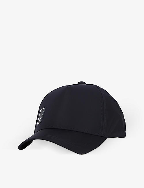 EMPORIO ARMANI: Brand-badge cotton baseball cap