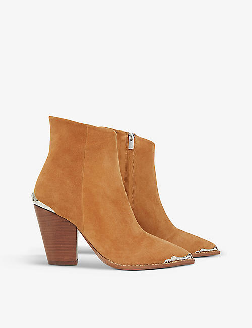 THE KOOPLES: Western pointed-toe suede ankle boots