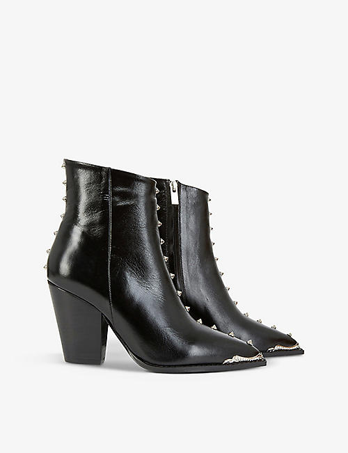 THE KOOPLES: Studded leather ankle boots