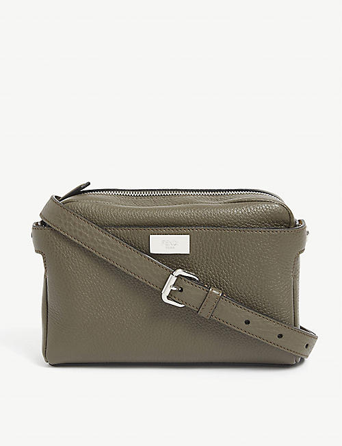 FENDI: Peekaboo leather belt bag