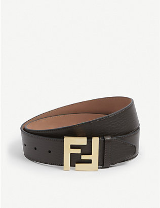 FENDI: FF leather belt