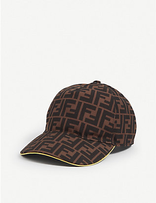 FENDI: Logo-print canvas baseball cap
