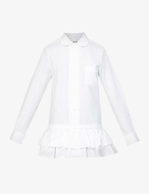 COMME DES GARCONS GIRL: Frilled cotton shirt