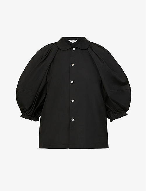 COMME COMME DES GARCONS: Puffed-sleeve cotton shirt