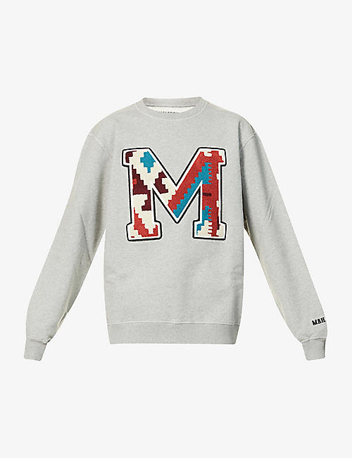 MAHARISHI: Logo-embroidered cotton-jersey sweatshirt