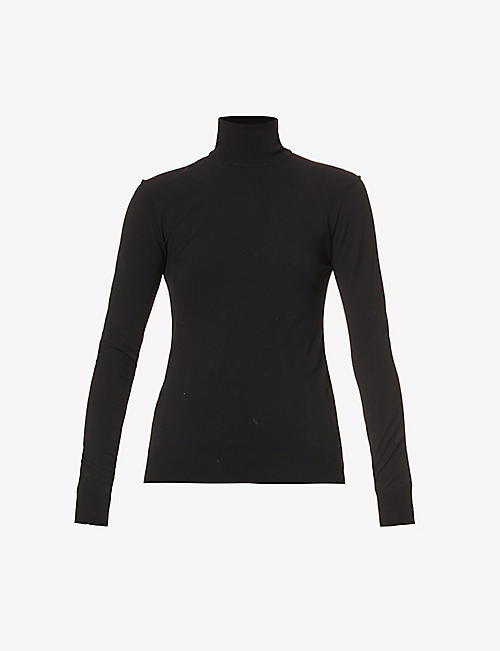 BOTTEGA VENETA: Turtleneck stretch-knit top