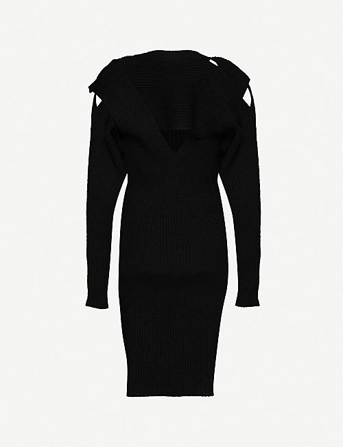BOTTEGA VENETA: Cut out-detailed knitted midi dress