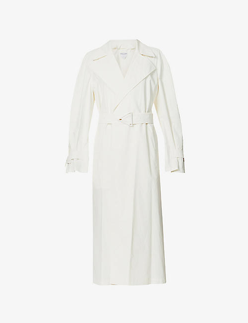 BOTTEGA VENETA: Belted cotton coat