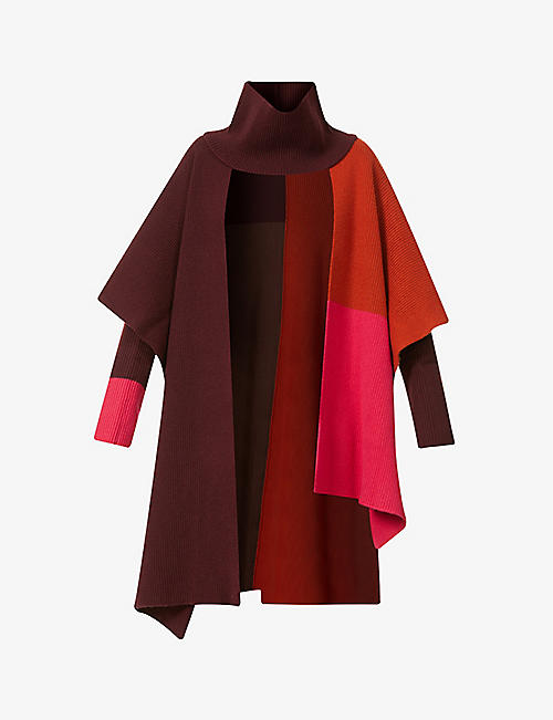 ROKSANDA: Noa asymmetric wool cape