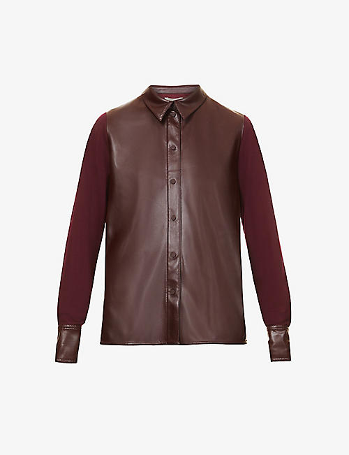 ROKSANDA: Paden faux-leather and woven shirt