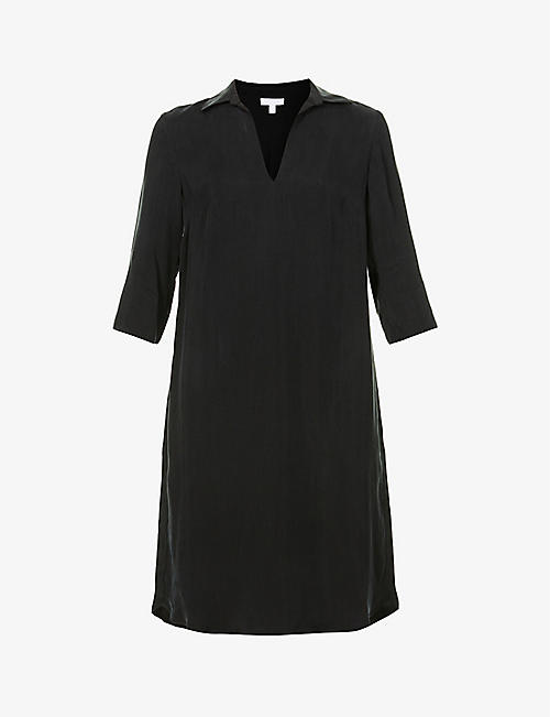 THE WHITE COMPANY: Cupro shift midi dress