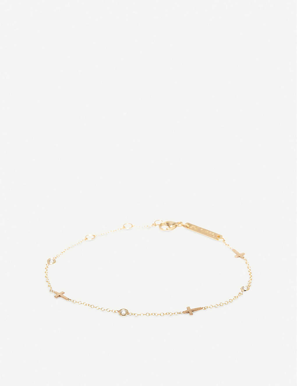 THE ALKEMISTRY: Zoë Chicco 14ct yellow-gold and diamond bracelet