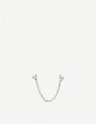 THE ALKEMISTRY: Zo? Chicco 14ct yellow-gold and diamond double earring