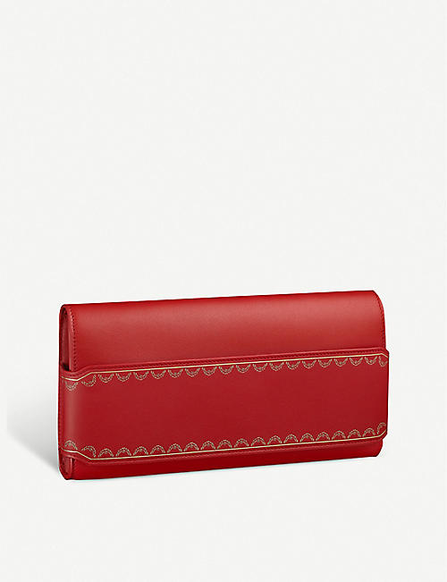 CARTIER: Guirlande de Cartier long leather clutch