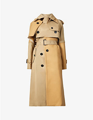 SACAI: Layered cotton and wool-blend coat