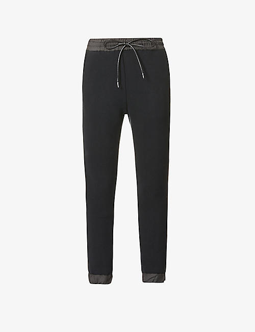 SACAI: Tapered high-rise cotton-blend trousers