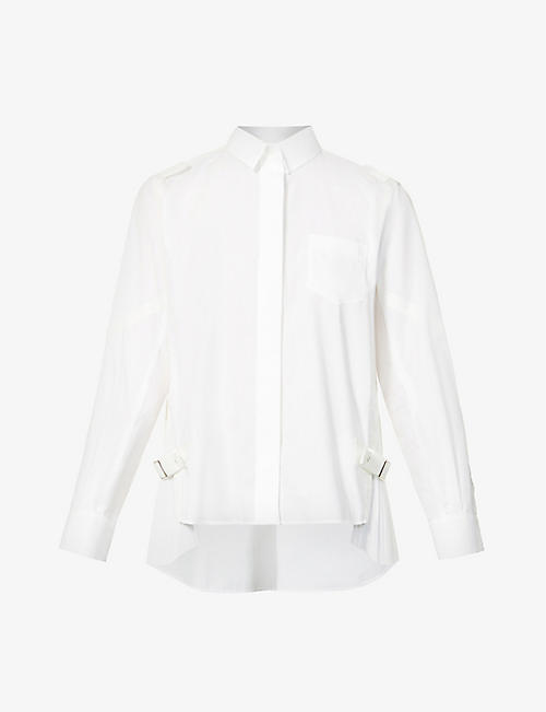 SACAI: Pleated woven shirt
