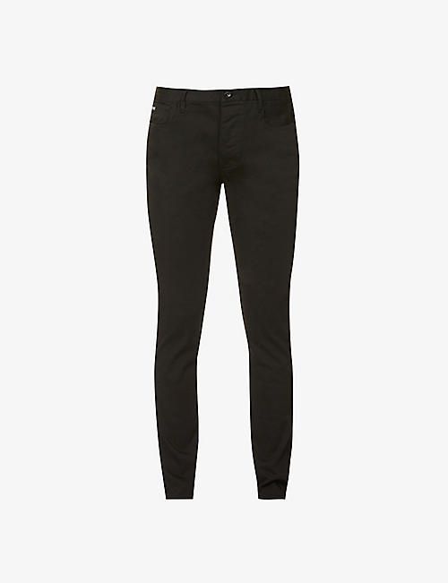 EMPORIO ARMANI: Skinny stretch-denim jeans