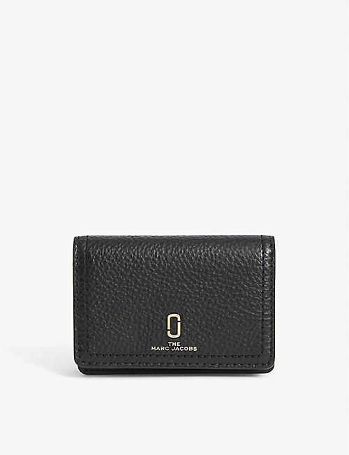 MARC JACOBS: Softshot grain leather card wallet